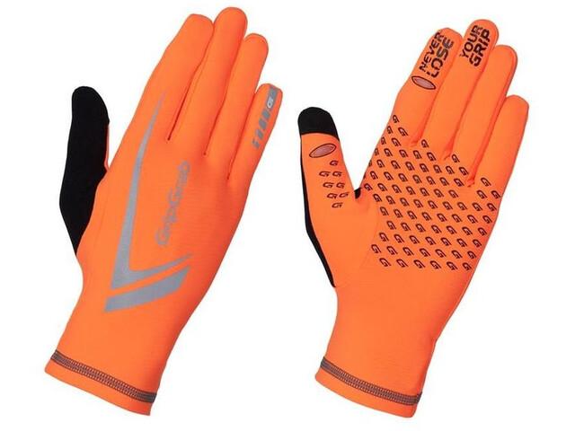 GripGrab Running Expert Hi-Vis Zimowe rękawice do ekranów dotykowych, pomarańczowy